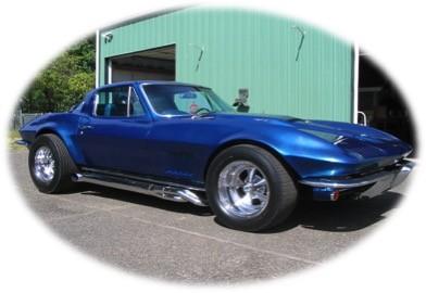 blue corvette