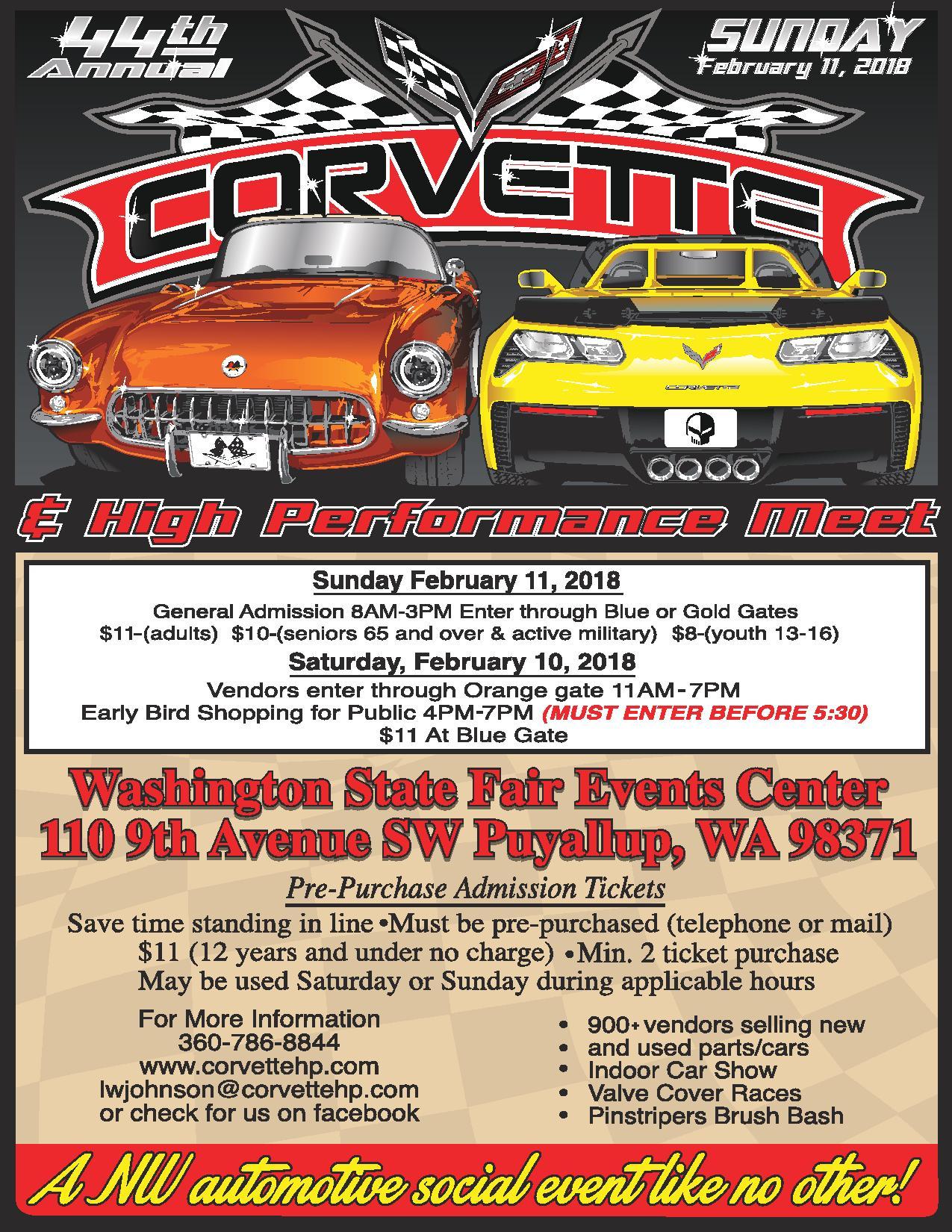 puyallup fairgrounds corvette swap meet